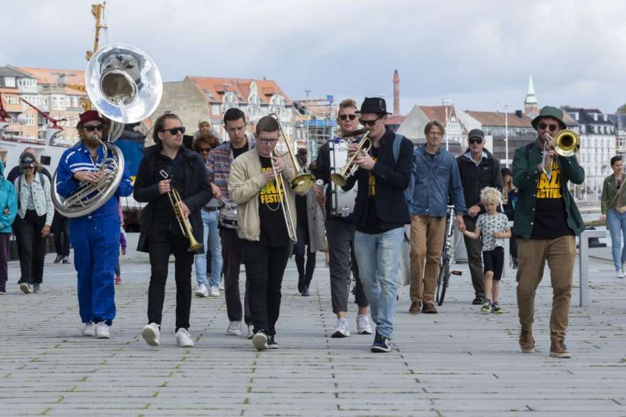 Street Parade – Aarhus Jazz Festival Brass Band - Photo: Poul Nyholm